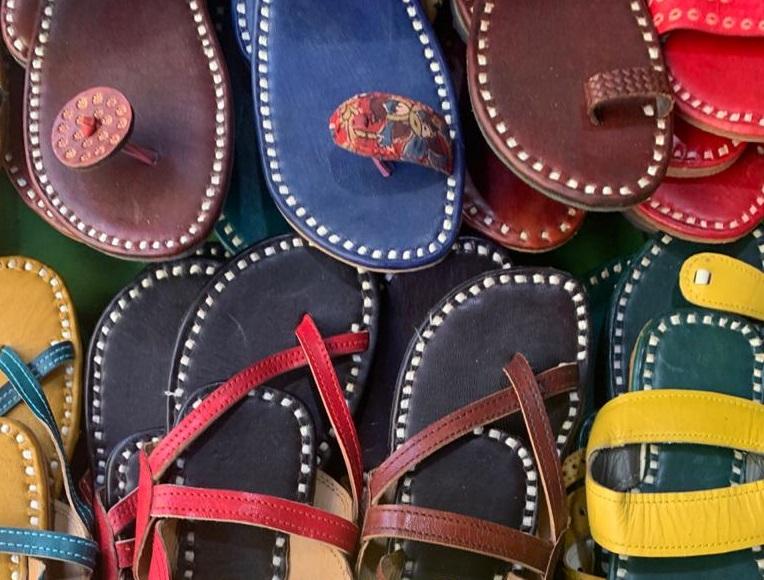 Leather Embroidered Mojari/Footware of Rajasthan