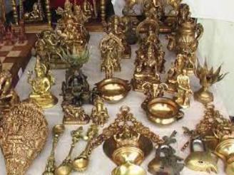 Brass Metal Lamps, Bells and Utensils/ Otim Kaam  of Goa