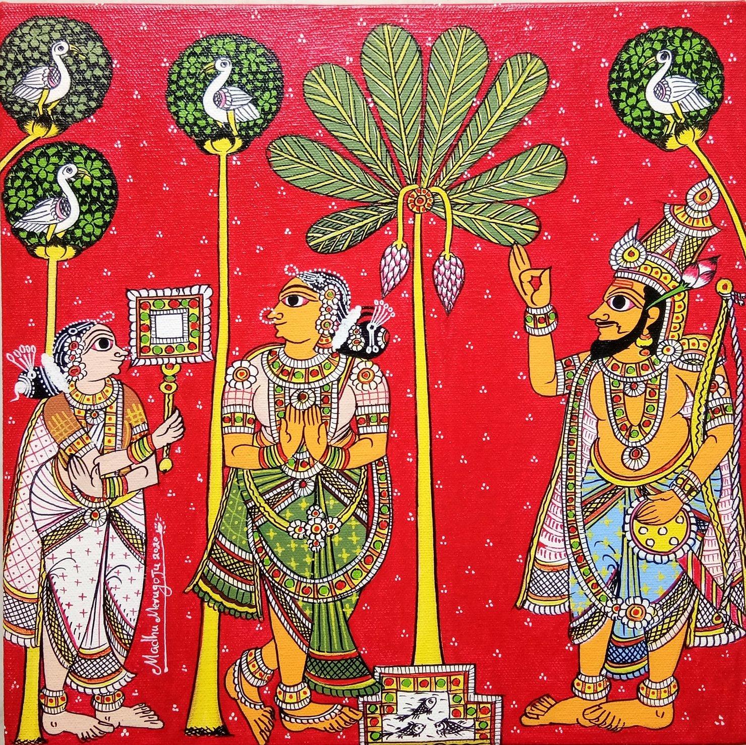 Scroll Painting of Cherial, Telangana