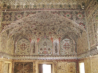 Mirror Decorations on Plaster and Lac of Pakistan