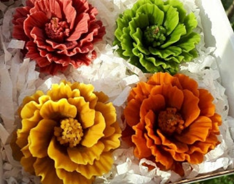 Wax Flowers and Candles of Nepal
