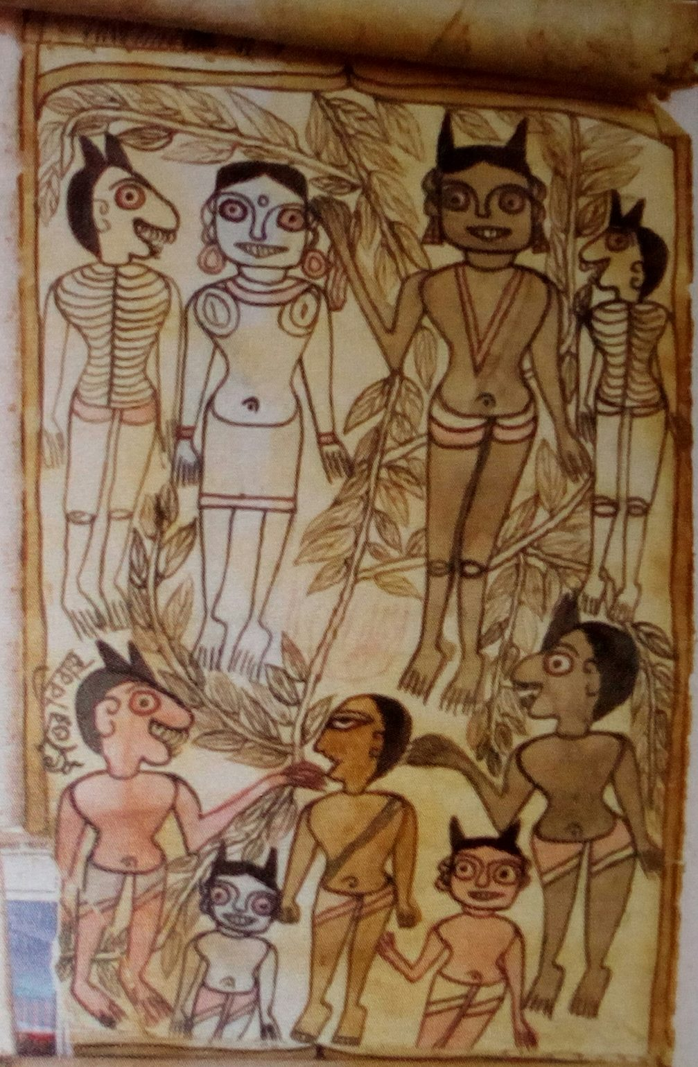 Jadupatua Scroll Painting of the Santhal Tribes of West Bengal