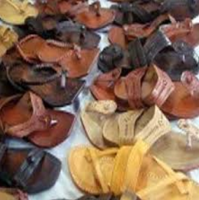 Embroidered Leather Footwear/ Chappals of Chamba, Himachal Pradesh