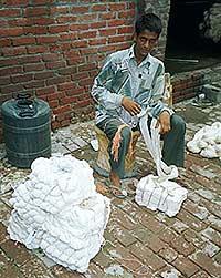 Bundles of Cotton Thread