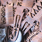 Wooden Comb and Hair Ornaments