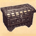 Metal Covered Wood Boxes/Pataras of Saurashtra, Gujarat