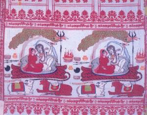 Siva-Parvati Woven Namavall Shawl