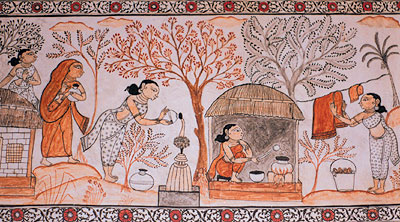 Mural Painting at Raghurajpur