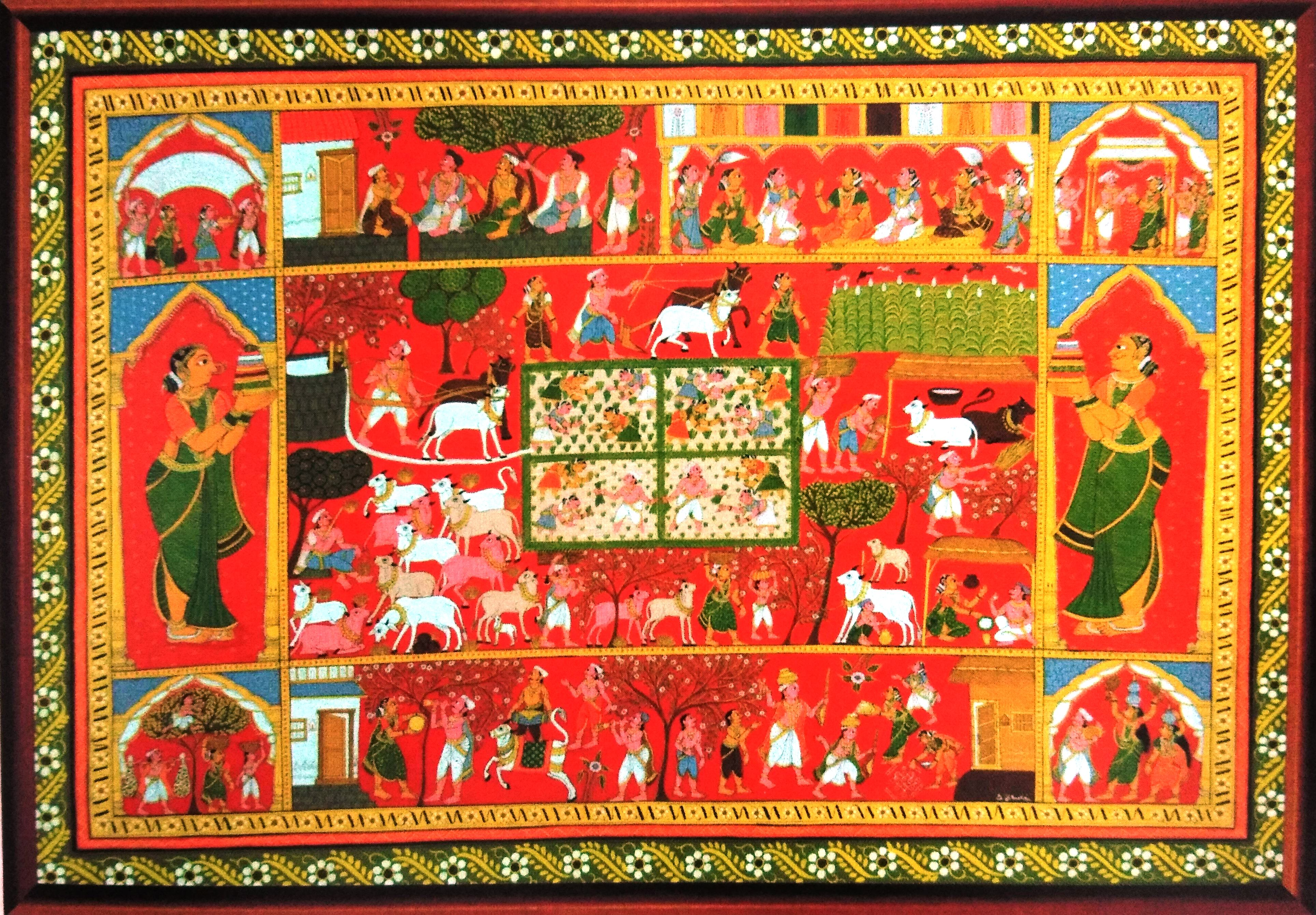 Cherial Scroll Painting
