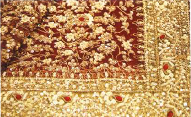 Zari/ Zardozi/Metallic Thread Embroidery of Uttar Pradesh
