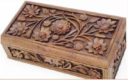 Kashmir Walnut Wood Carving