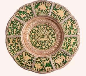 Thawa Art Work (Gold Work on Glass)