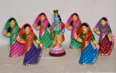 Miniature Golden Dolls of Panruti, Tamil Nadu
