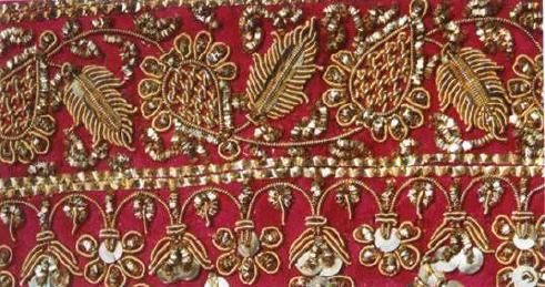 Zari, Zardozi – Metalic Yarn Embroidery of Madhya Pradesh