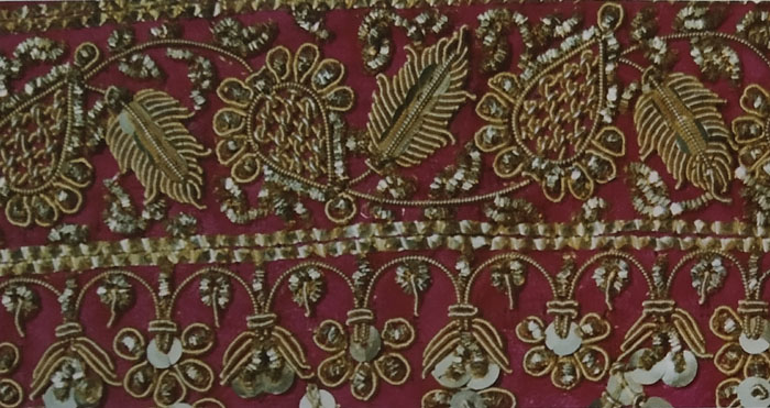 Zari, Zardozi – Metalic Yarn Embroidery of Madhya Pradesh