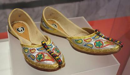Leather Embroidered Footwear/ Tilla Jutti of Punjab