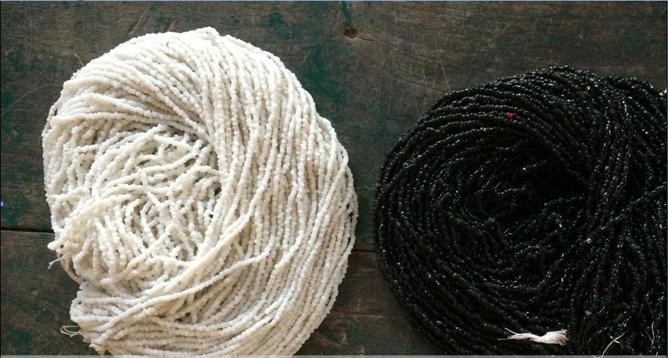 Mangala-Sutra Black Glass Seed-Beads of Papanaidupet, Andhra Pradesh