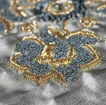 Dabka/ Dubka Work/Coiled Metal Embroidery of Rajasthan