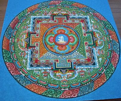 Mandala/ Sacred Geometric Buddhist Paintings of India
