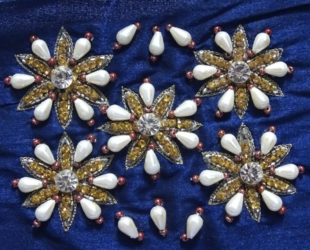 Cutdana Kaam/ Faceted Bead Embroidery of India